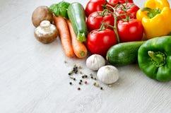 Różnorodni rodzaje warzywo kopii przestrzeń Zdjęcia Royalty Free