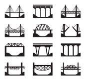 Różnorodni typ mosty ilustracja wektor