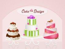 Różnorodni typ torty ilustracja wektor