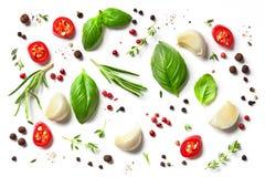 Różnorodni ziele i pikantność obraz stock