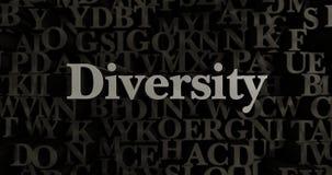 Różnorodność - 3D odpłacająca się kruszcowa typeset nagłówek ilustracja royalty ilustracja