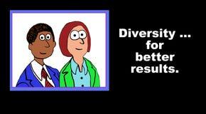 Różnorodność Dla Lepszy rezultatów ilustracja wektor