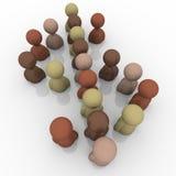 Różnorodność Dolarowego znaka gospodarki Wielokulturowego symbolu ludzie ilustracja wektor