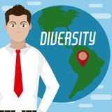 Różnorodność dookoła świata royalty ilustracja