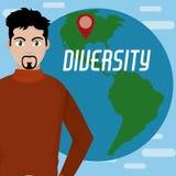 Różnorodność dookoła świata ilustracji