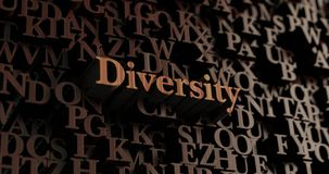Różnorodność - Drewniani 3D odpłacający się listy/wiadomość ilustracja wektor