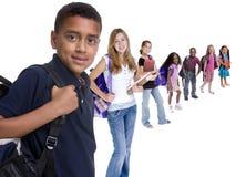 różnorodność dzieci do szkoły Zdjęcie Stock