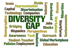 Różnorodność Gap ilustracja wektor