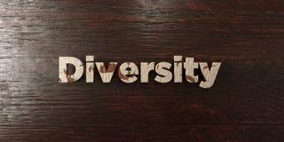 Różnorodność - grungy drewniany nagłówek na klonie - 3D odpłacający się królewskość bezpłatny akcyjny wizerunek ilustracja wektor