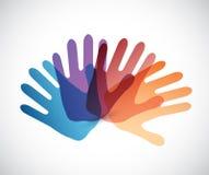 różnorodność kolor wręcza ilustrację ilustracji