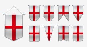 Różnorodność kształty flaga państowowa kraj Pionowo szablon banderka dla tła, sztandar, strona internetowa, logo, nagroda, osiągn royalty ilustracja