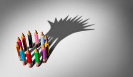 Różnorodność lider biznesu pojęcie royalty ilustracja