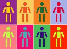 Różnorodność ludzie royalty ilustracja
