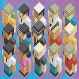 Różnorodność ludzie isometric ilustracji