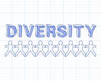 Różnorodność ludzie Na wykresie royalty ilustracja