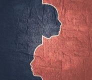 Różnorodność między istoty ludzkiej metaforą ilustracji