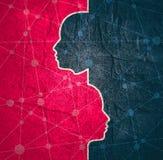 Różnorodność między istoty ludzkiej metaforą ilustracja wektor
