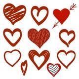 Różnorodność miłość Walentynka dnia tło royalty ilustracja