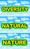 Różnorodność, Naturalna, natura royalty ilustracja
