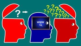 Różnorodność opinie na internecie ilustracji