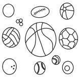 Różnorodność piłki ilustracja wektor
