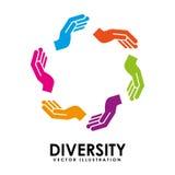 Różnorodność projekt royalty ilustracja