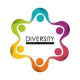 Różnorodność projekta ludzie ilustracja wektor