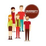 Różnorodność projekta ludzie ilustracji