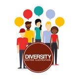 Różnorodność projekta ludzie royalty ilustracja