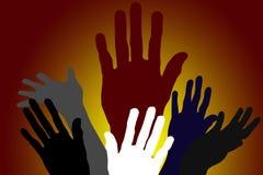 różnorodność ręce ilustracji