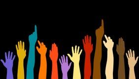różnorodność ręce ilustracja wektor
