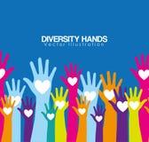 różnorodność ręk projekt ilustracja wektor