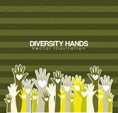 różnorodność ręk projekt royalty ilustracja