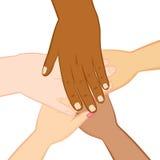 Różnorodność ręki Wpólnie royalty ilustracja