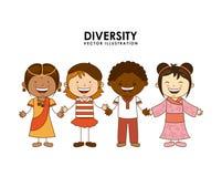 Różnorodność rasy royalty ilustracja