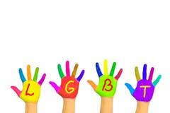 Różnorodność, rozmaitość i LGBT społeczność pojęcie, obrazy stock