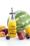 Różnorodność sok i owoc zdjęcie stock