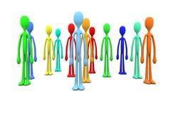 Różnorodność tłum ilustracji