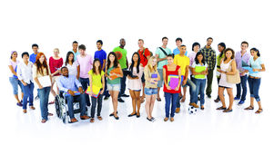 Różnorodność tłumu przyjaciół komunikaci pojęcia ludzie Obraz Stock