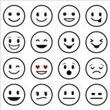 Różnorodność uśmiechy patroszona ręki ikon sieć ilustracja wektor