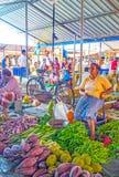 Różnorodność warzywa w Wellawaya rynku Fotografia Stock