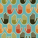 Różnorodność wręcza bezszwowego wzór ilustracja wektor