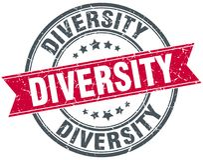 Różnorodność znaczek ilustracja wektor