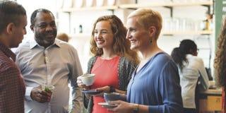 Różnorodności śniadanio-lunch kawiarni Partyjnego pojęcia ludzie obrazy royalty free