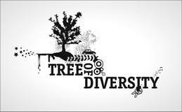 różnorodności abstrakcjonistyczny drzewo Zdjęcia Stock