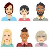 Różnorodności Avatar ludzie ilustracja wektor