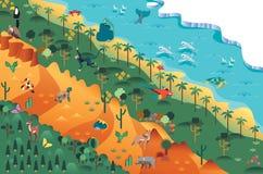 Różnorodności biologicznej ial escene ilustracja wektor