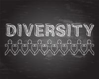 Różnorodności Blackboard ludzie ilustracji