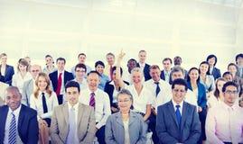 Różnorodności grupa Biznesowego spotkania konferenci pojęcie obrazy royalty free
