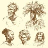 różnorodności istoty ludzkiej portrety royalty ilustracja
